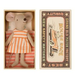 Mouse Big Sister Orange Stripe In Box