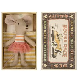 Maileg Little Sister Mouse Orange Stripe