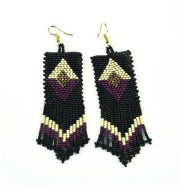 Ink + Alloy Black, Port, Gold Seed Bead