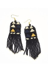 Ink + Alloy Black, Ivory, Navy Seed Bead
