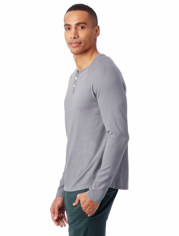 Alternative Apparel Organic LS Henley