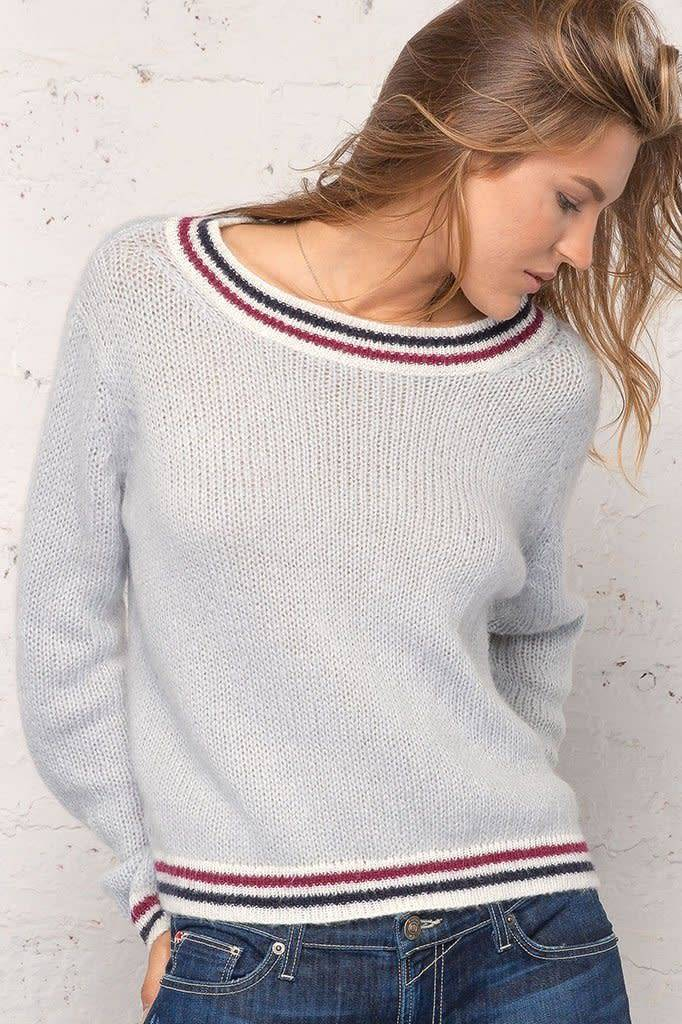 Wooden Ships Robbie Striped Sweater