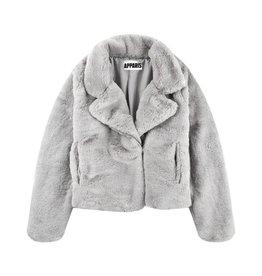 Apparis Apparis Faux Fur Biker Jacket - Cloud