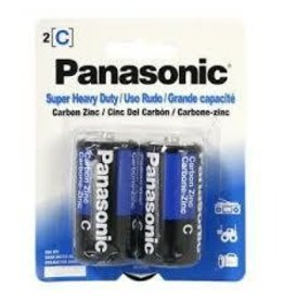 PANASONIC 10PHC2BCS- PANASONIC SUPER HEAVY DUTY C CELL BATTERIES, 2-PAK