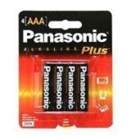 PANASONIC 10PAAAA4BC- PANASONIC ALKALINE PLUS AAA 4-PAK