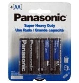 PANASONIC 10PHAA4BCS- Panasonic Heavy Duty Batteries AA 4-pak