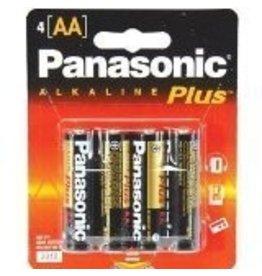 PANASONIC 10PAAA4BCS- PANASONIC ALKALINE PLUS AA 4-PAK