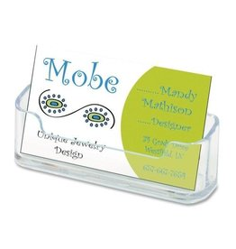 DELFLECTO DEF70101- BUSINESS CARD HOLDER PLASTIC