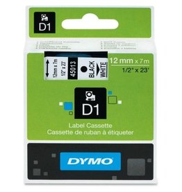 "DYMO DYM45013- CARTRIDGE;TAPE;1/2""-BK/WE"