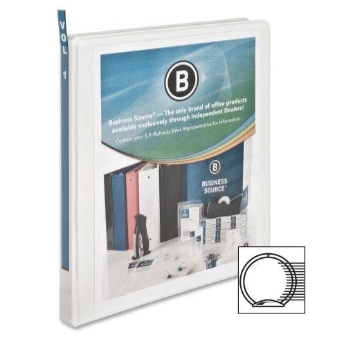 """BUSINESS SOURCE BSN09980- BINDER WHITE 0.5"""""""