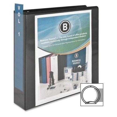 "BUSINESS SOURCE BSN09956- Black 3-ring View Binder 2"""
