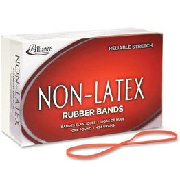 ALLIANCE ALL37546- ASSORTED NON-LATEX RUBBER BANDS - ORANGE