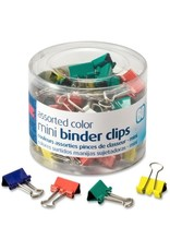 OIC31024- TUB OF  60 ASSORTED MINI BINDER CLIPS