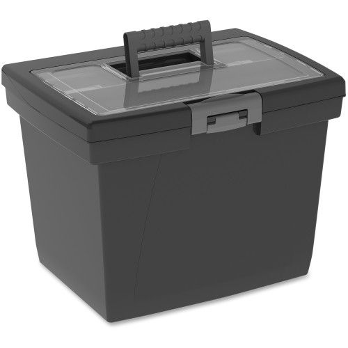 STX61522B04C- Storex Nesting Portable File Box