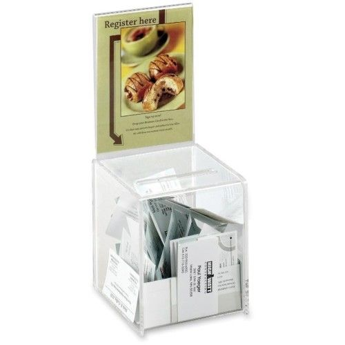 SAF4235CL- Small Suggestion BOX;ACRYLIC