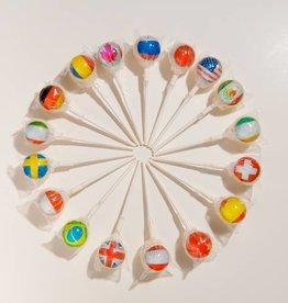 World Flags Lollipops