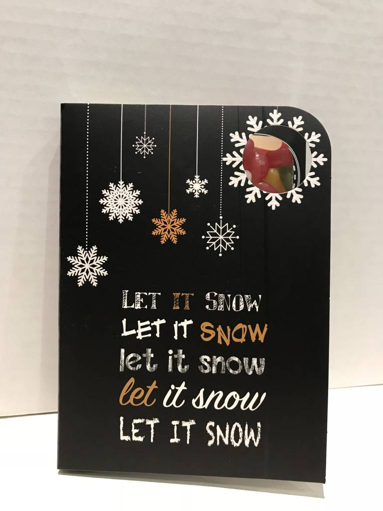 Top Sweeting Card - Xmas Let it Snow (SRXMU14) - Chocosina Sweet Boutique MR77