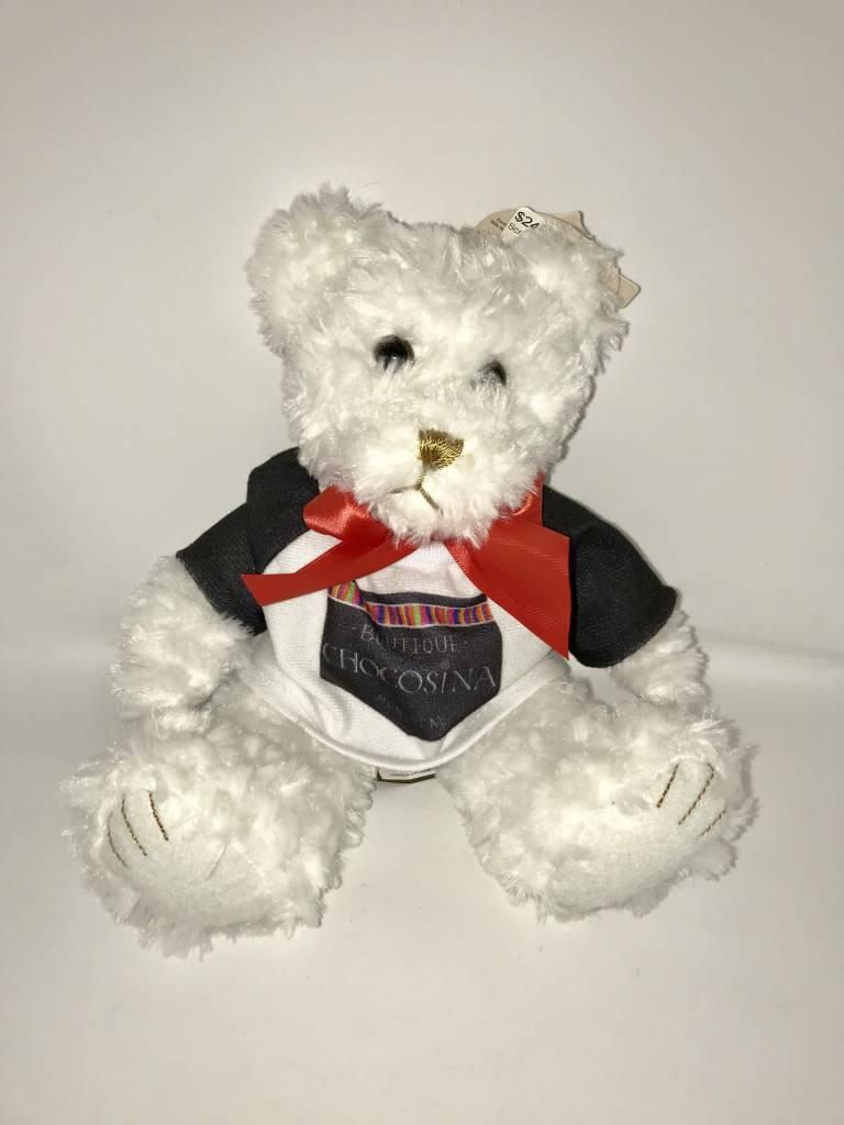 """Plush White Scraggles Bear 7.5"""""""