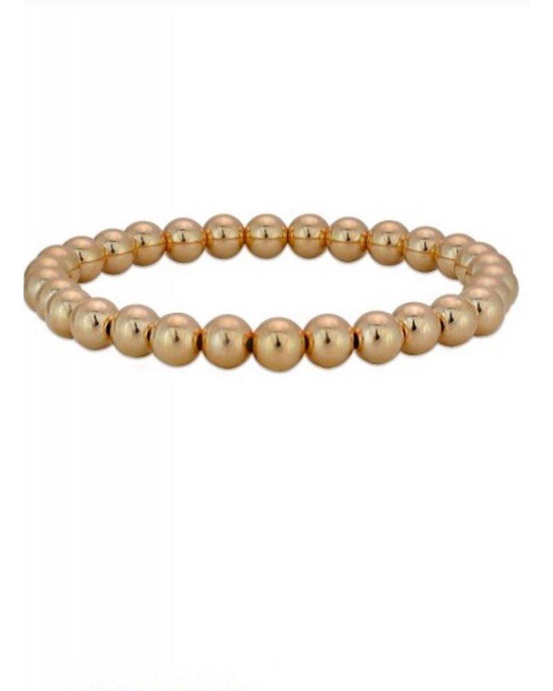 6MM Gold Filled Plain Bracelet