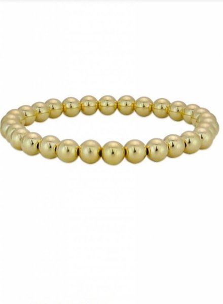 6MM Gold Filled Plain Bracelet