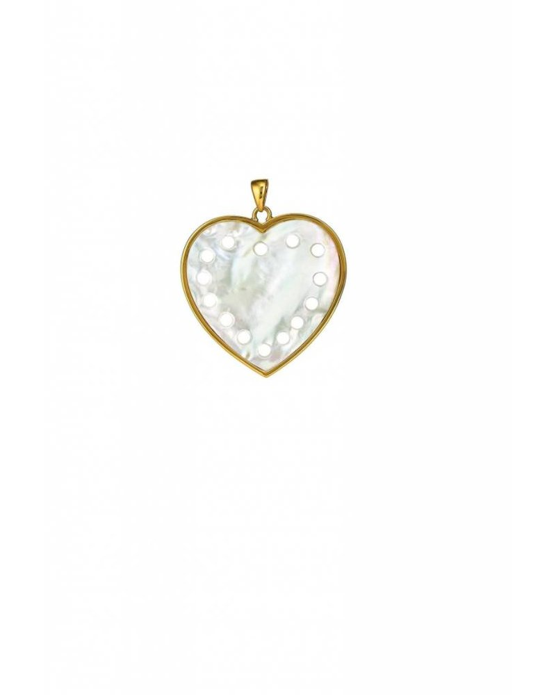 Asha by ADM Petite Heart Pendant Mother of Pearl