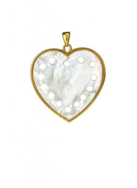 Asha by ADM Heart Pendant Mother of Pearl