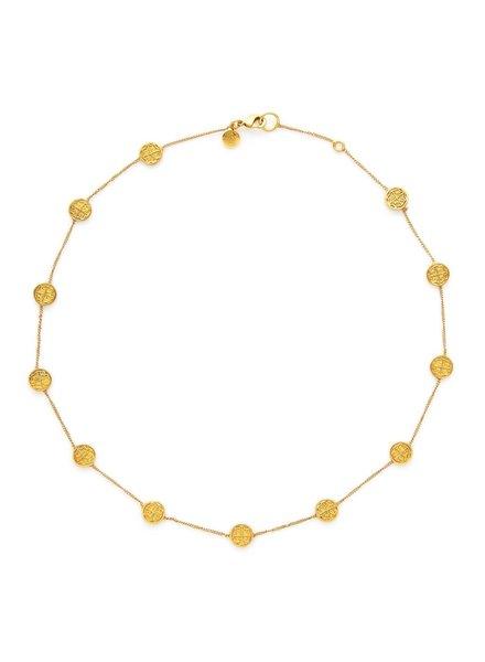 Julie Vos Valencia Station Delicate Necklace - Gold