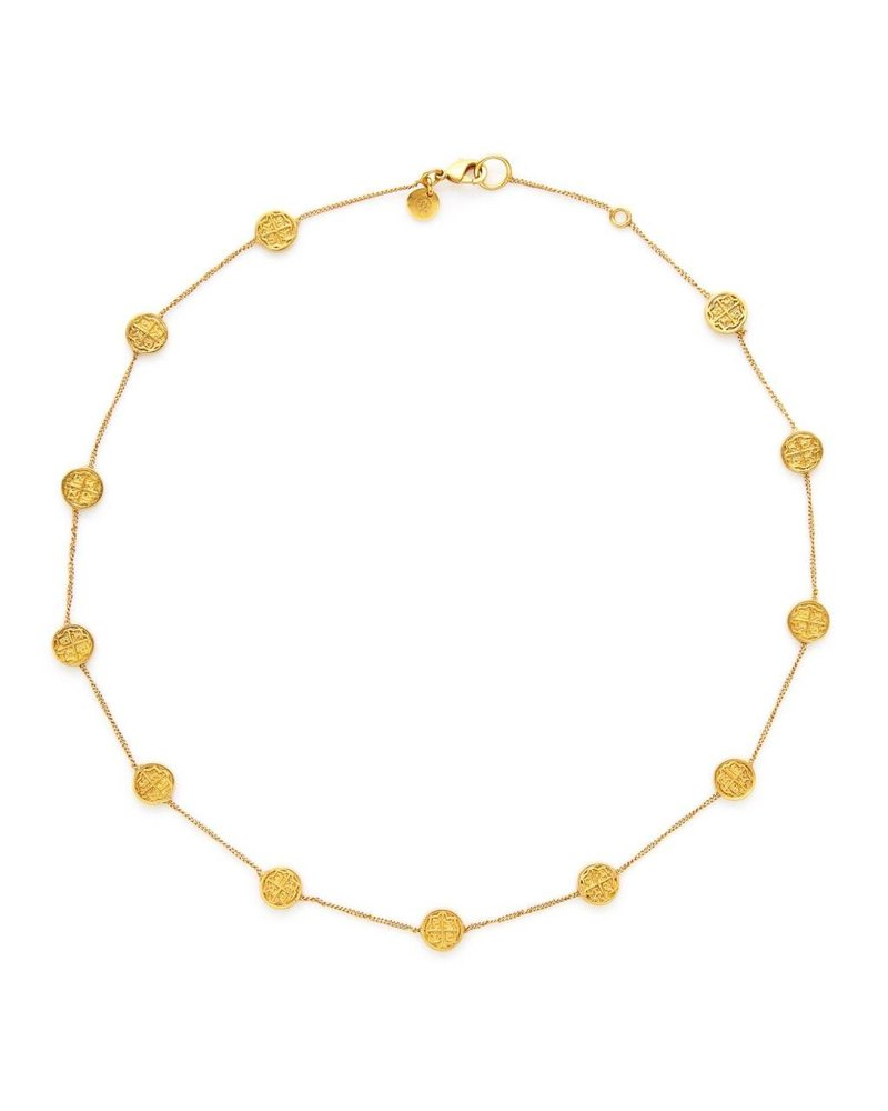Julie Vos Valencia Station Delicate Necklace - Gold