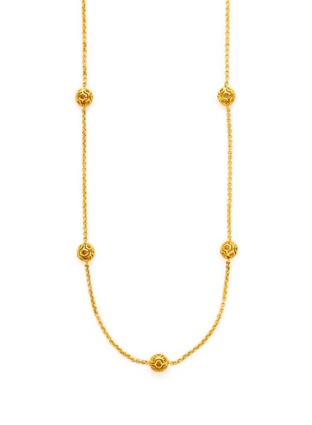 Julie Vos Casablanca Ball Station Necklace