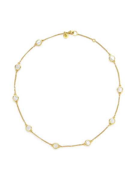 Julie Vos Valencia Station Delicate Gold Necklace