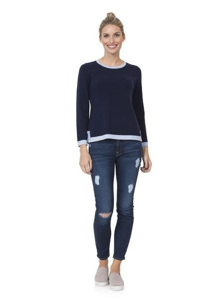 SAIL TO SABLE Color Block Sweater