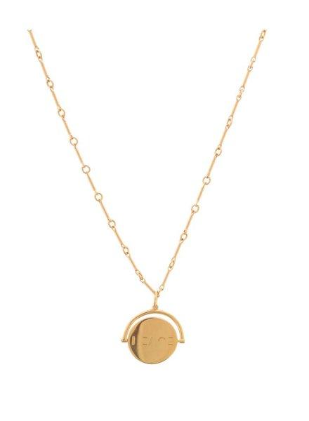 LULU DK Peace Signature Spin Necklaces