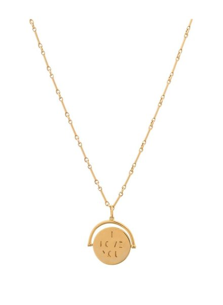 LULU DK I Love You Signature Spin Necklaces