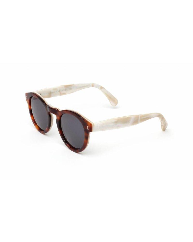 Illesteva Leonard Havana/Cream Marble Sunglasses