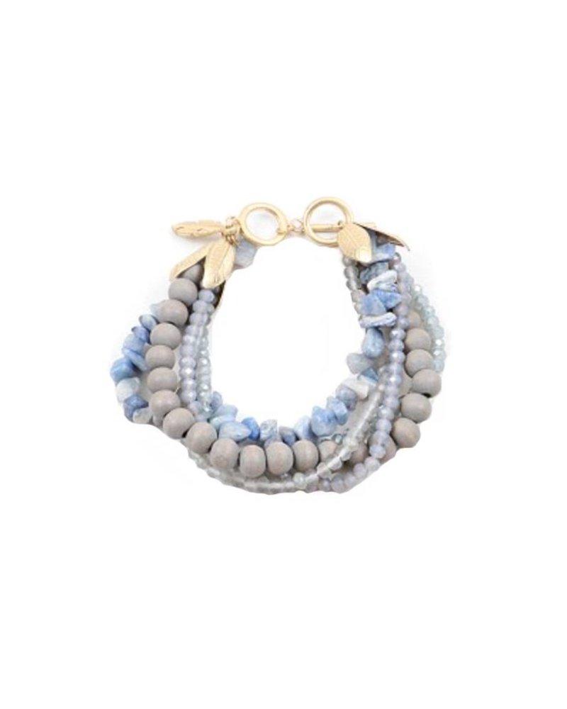 Palmer Jewelry Blue Leaf Bracelet