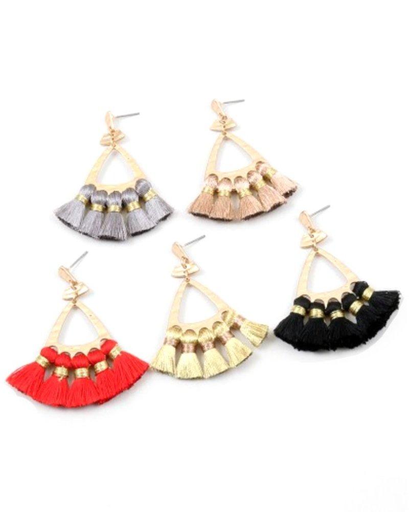 Palmer Jewelry Tassel Castle Earrings