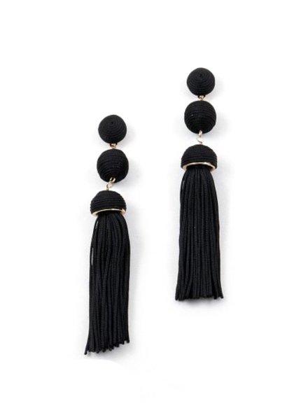 Palmer Jewelry Double Ball Tassel Earrings