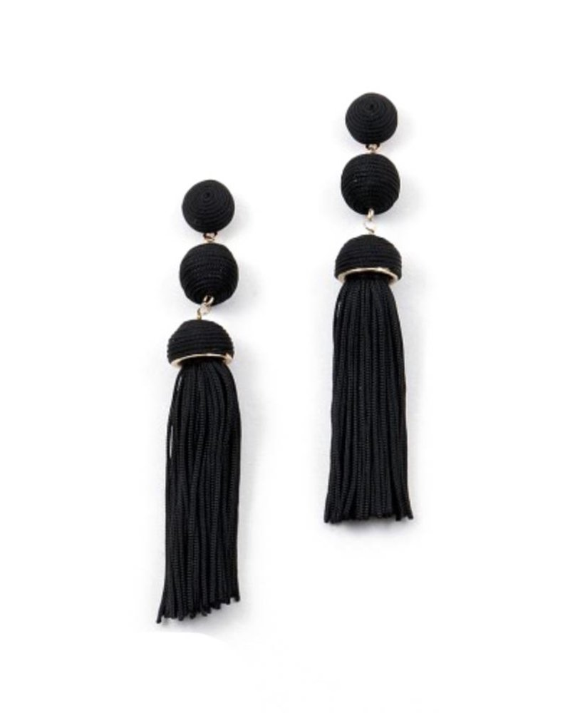 Palmer Jewelry Double Ball Tassel Earrings