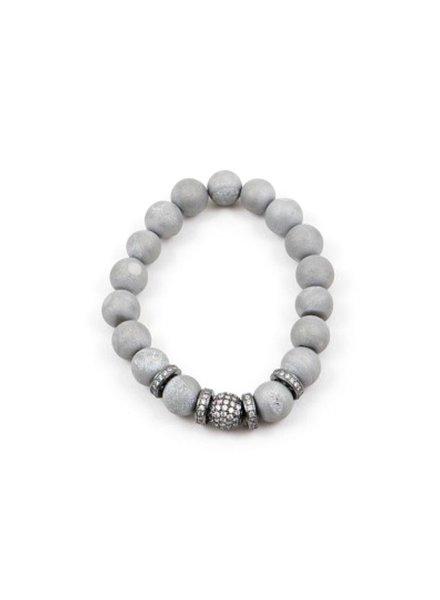 Palmer Jewelry Druzy Stone Bracelet