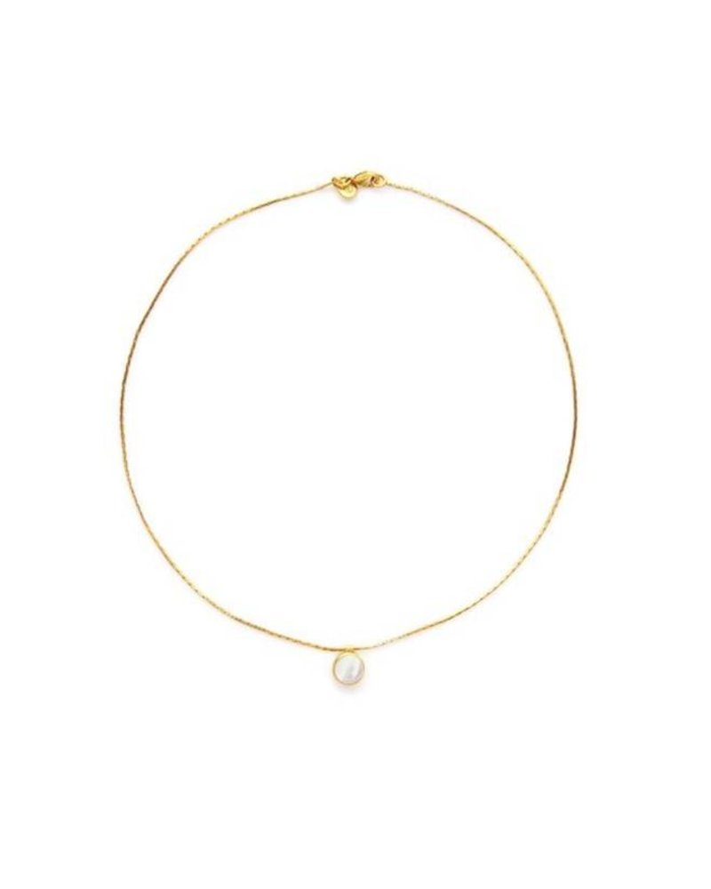 Julie Vos Valencia Delicate Necklace - Mother of Pearl