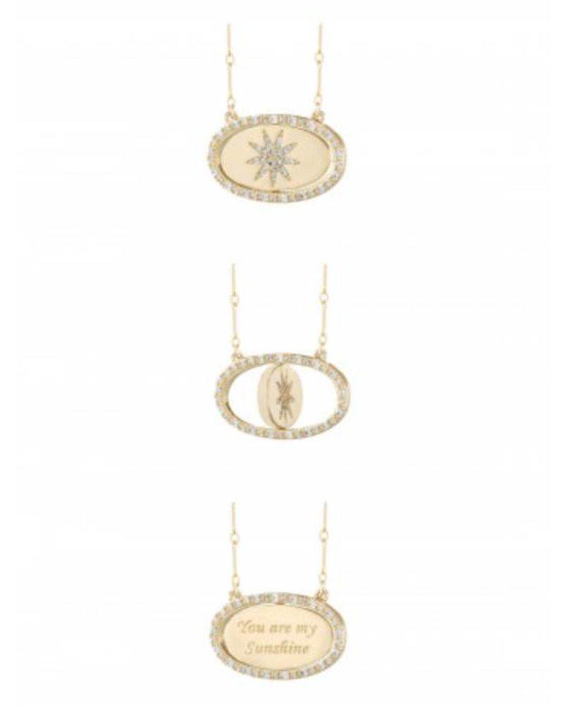 LULU DK Flip Sunshine Necklace