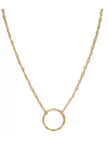 Treisi 24K Hammered Circle Necklace