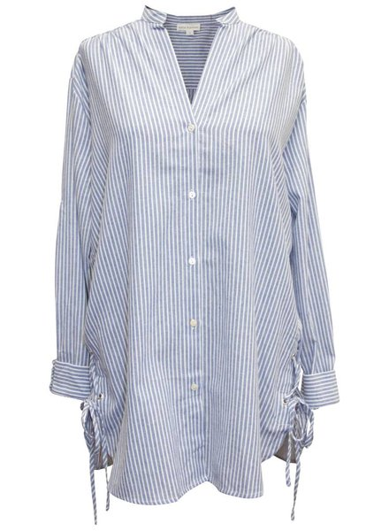 Palmer & Purchase Laced Stripe Button Up Shirt