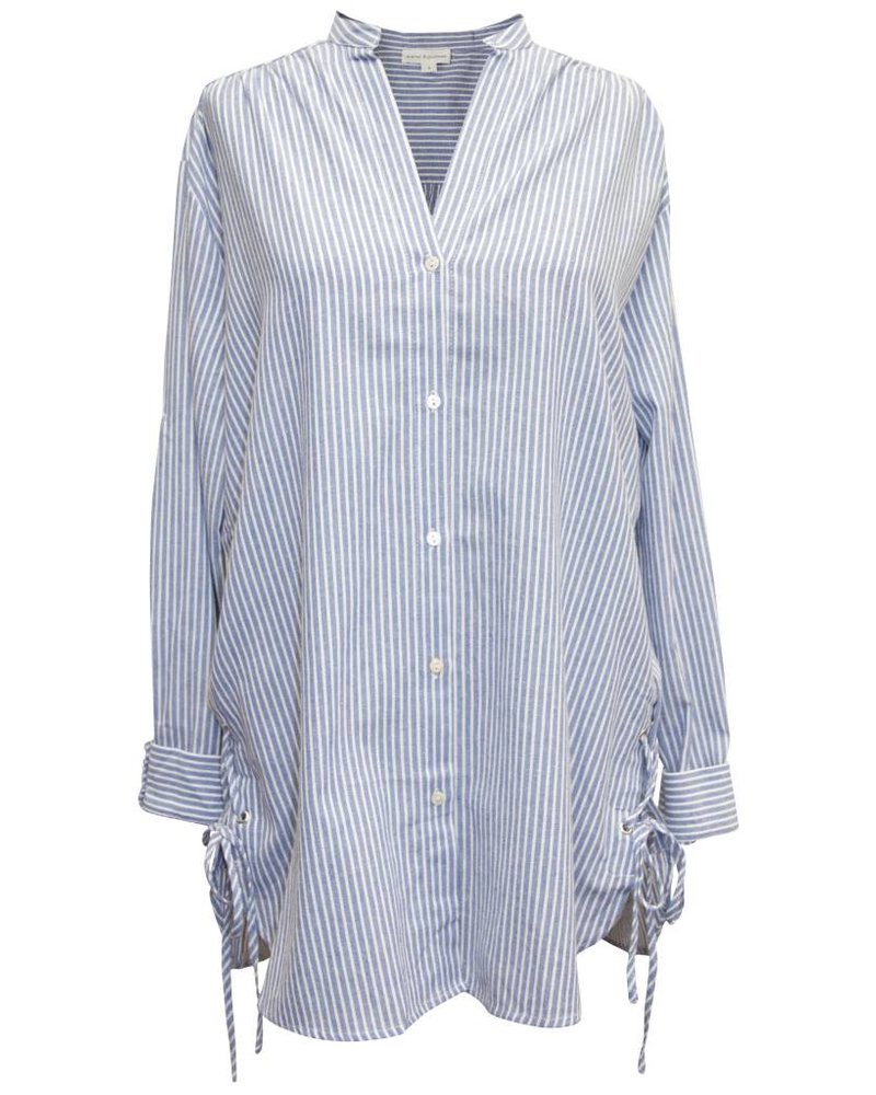 Palmer Private Label Laced Stripe Button Up Shirt