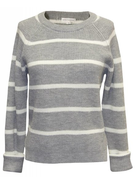 Palmer & Purchase Stripe Crew Neck Sweater