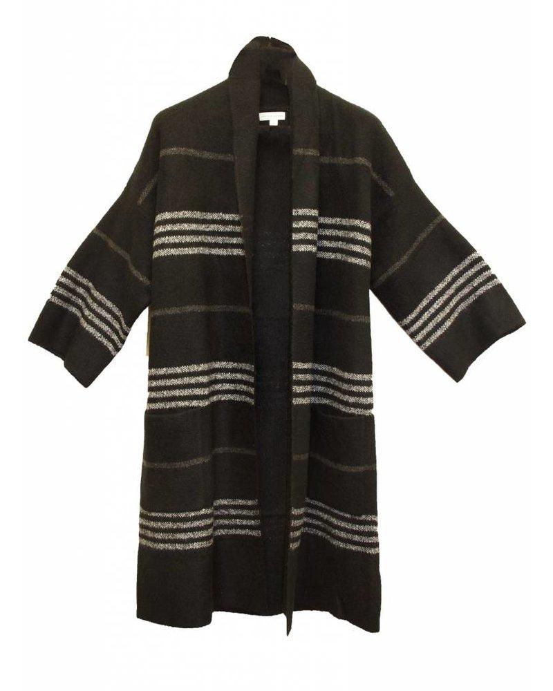 Palmer & Purchase 3/4 Sleeve Black Coatigan