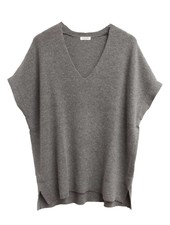 Palmer & Purchase Cashmere Short Sleeve  Rib Cashmere V Tunic
