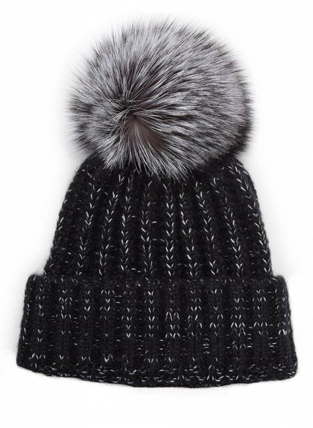 Fox Pom Tweed Hat