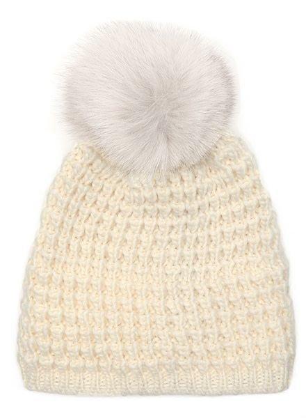 Fox Pom Knitted Hat