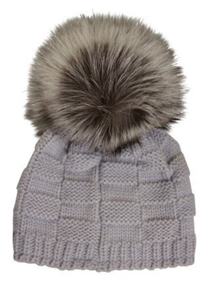 Fox Pom Crosstitch  Hat